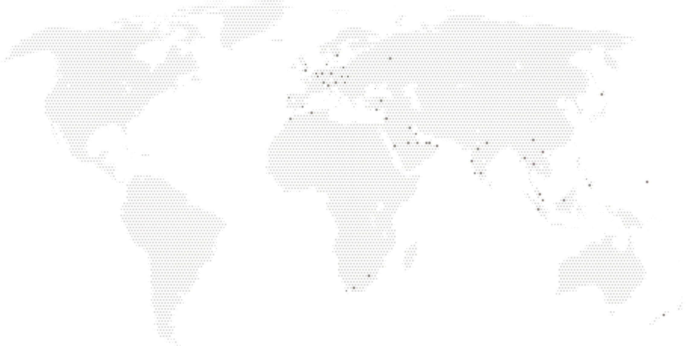 World Map with locations of our projects on it
