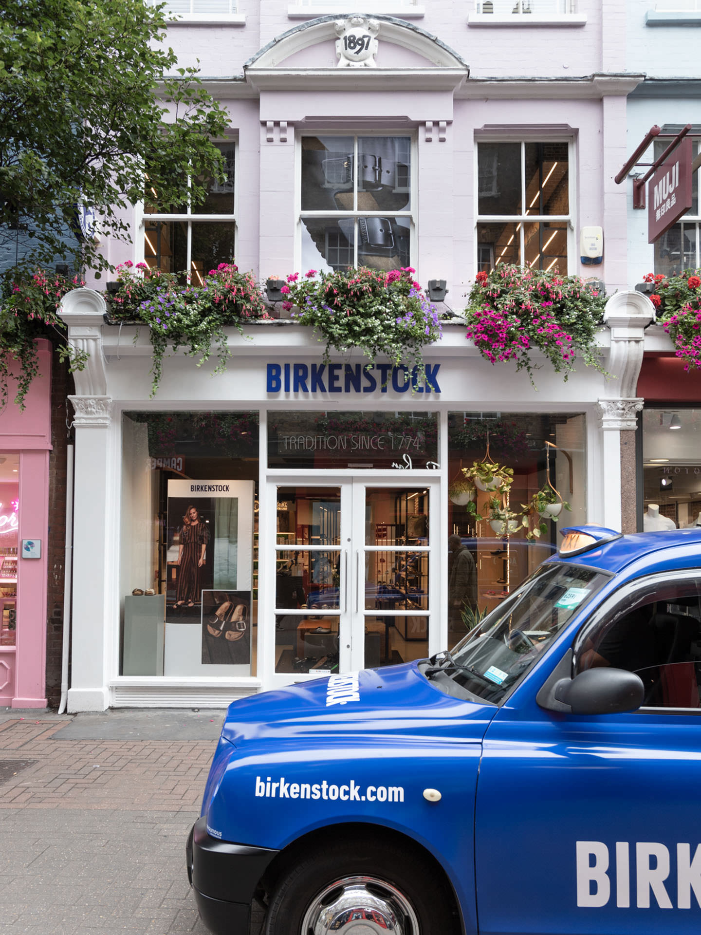 Exterior view on the Birkenstock Store in Carnaby, London
