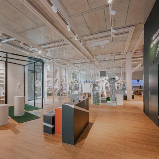 Interior view Lacoste Zurich showroom