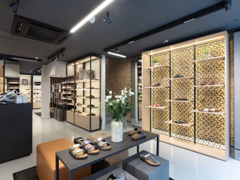 Interior view on shoe wall in BS Carnaby