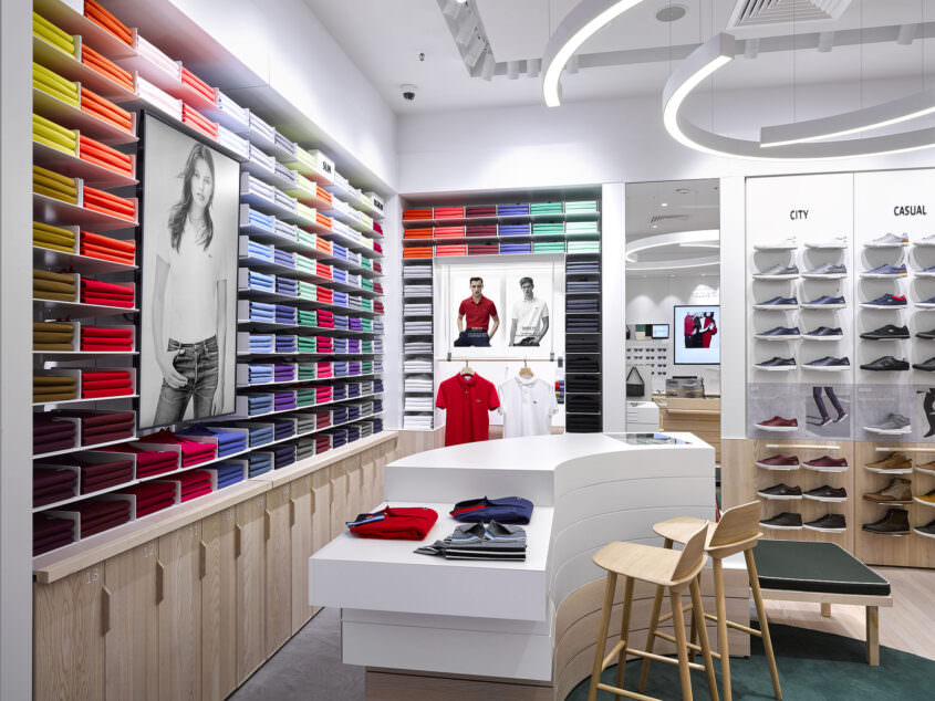 View on the Polo Wall at Lacoste CentrO in Oberhausen