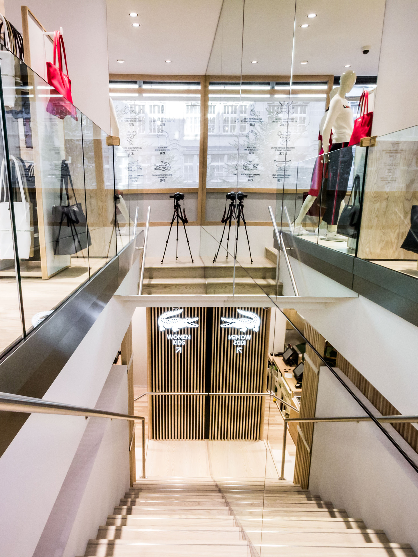 Interior view of the Lacoste Store in Zurich